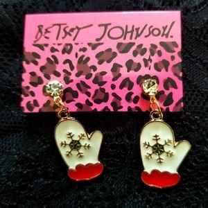 Betsey Johnson Mitten Earrings